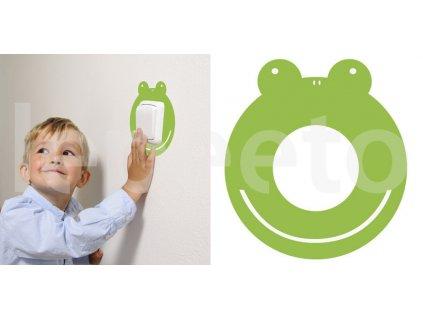 Žabák - samolepka pod vypínač - na zeď
