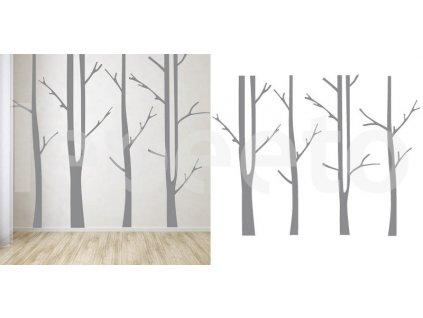 Kmeny stromů - samolepka na zeď