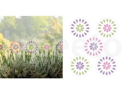Okno jarem poseté - nálepky pro opakované použití