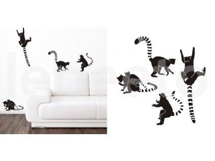 Banda lemurů - samolepky na zeď i na okno