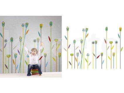 Co se děje v trávě COLOURFULL - zvýhodněný balíček samolepek na zeď