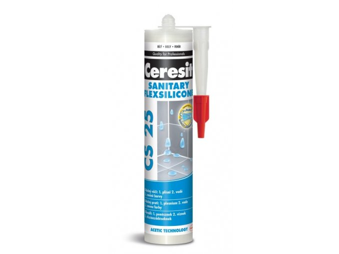 Ceresit CS 25 silikon sanitár - 280 ml brown