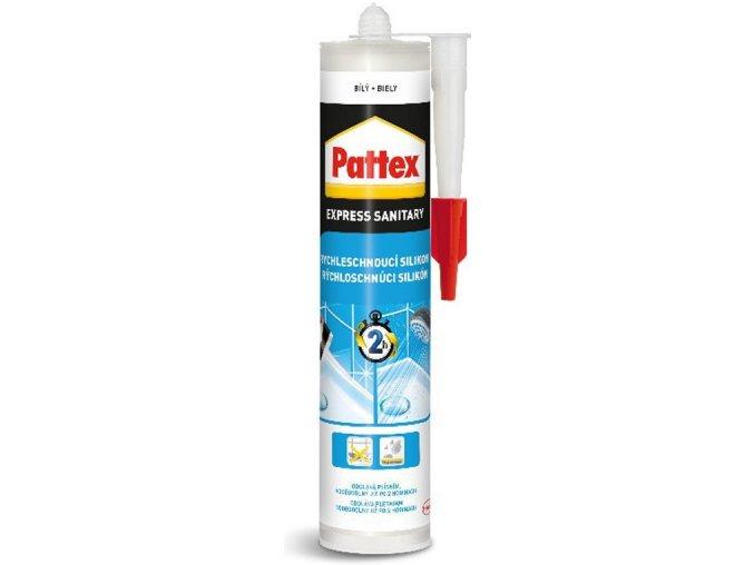 Pattex Rychleschnoucí sanitární silikon - 280 ml bílý