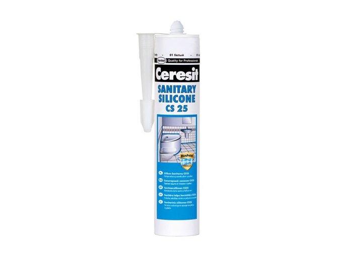 Ceresit CS 25 - 280 ml silikon sanitár bílá
