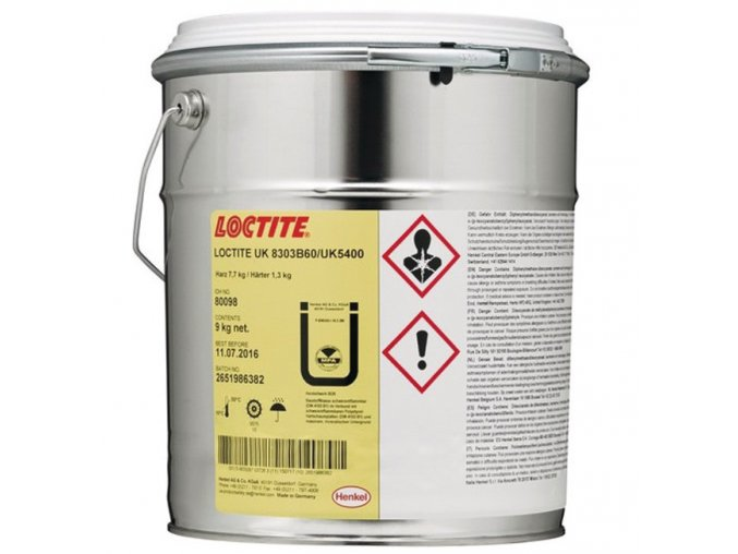 Loctite UK 8303 B60/UK 5400 - 9 kg polyuretánové lepidlo Macroplast