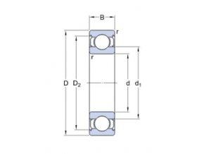 Ložisko 6305-2Z/C3  SKF