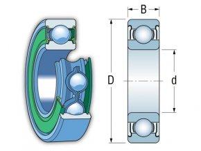 Ložisko 6311-2ZR C3  KINEX