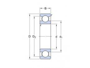Ložisko 6406/C3  SKF