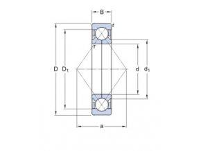 Ložisko QJ 211 MA/C3  SKF
