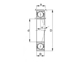 Ložisko B7003-C-T-P4S-UL  FAG