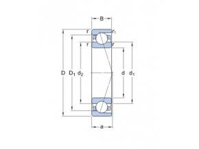 Ložisko 7208 ACDGA/P4A  SKF
