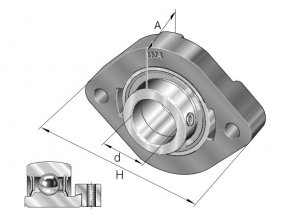 Ložisková jednotka FLCTE12-XL  INA