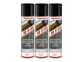 Teroson SB 3135 - 3x400 ml černý USB sprej