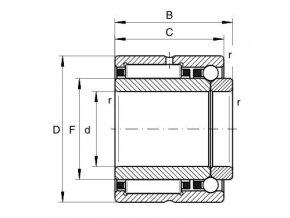 Ložisko NKIB 5902-XL INA