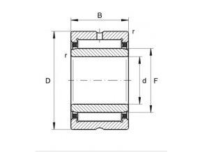 Ložisko NA 4904-XL  INA