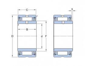 Ložisko NA 4906.2RS  SKF