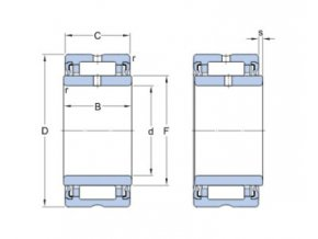 Ložisko NA 4910.2RS  SKF