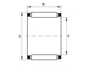 Ložisko K 7x10x8-TV/0-7  INA