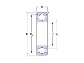 Ložisko 608-2Z SKF průmyslové balení