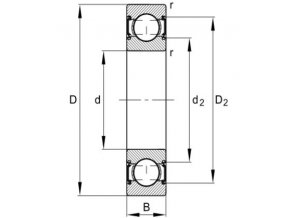 Ložisko 6201-C-2HRS-C3 FAG
