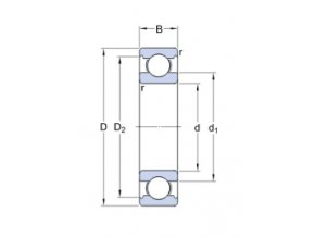 Ložisko 6205 ETN9/C3  SKF
