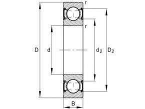 Ložisko 6206-C-2HRS-C3 FAG