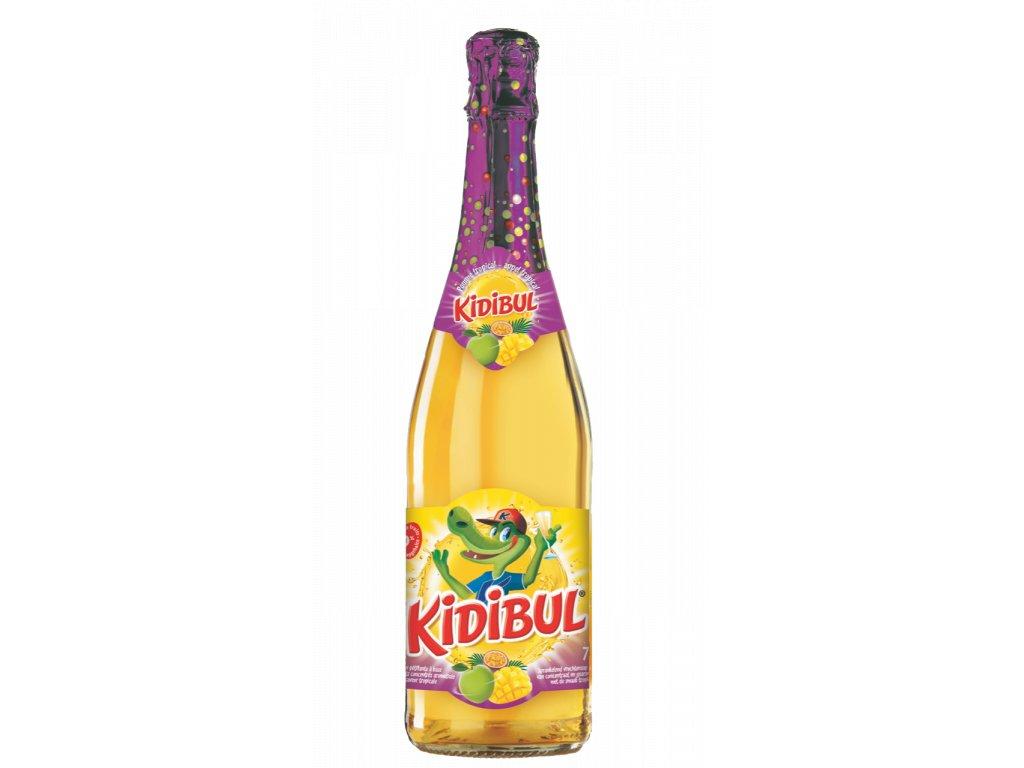 Kidibul - 99% Jablko, Tropické ovoce - Dětský šumivý nápoj - 750 ml