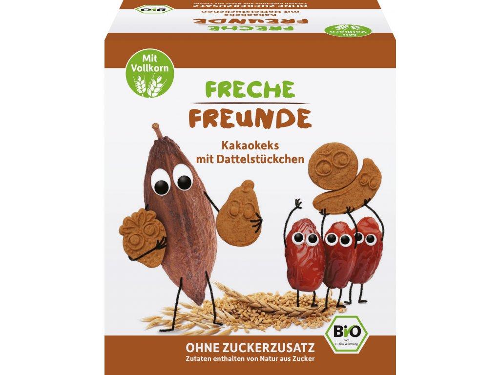 Freche Freunde - BIO Kakaové sušenky s kousky datlí 125g