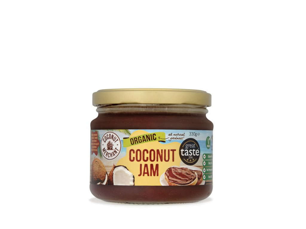 Organic Coconut jam with shadow