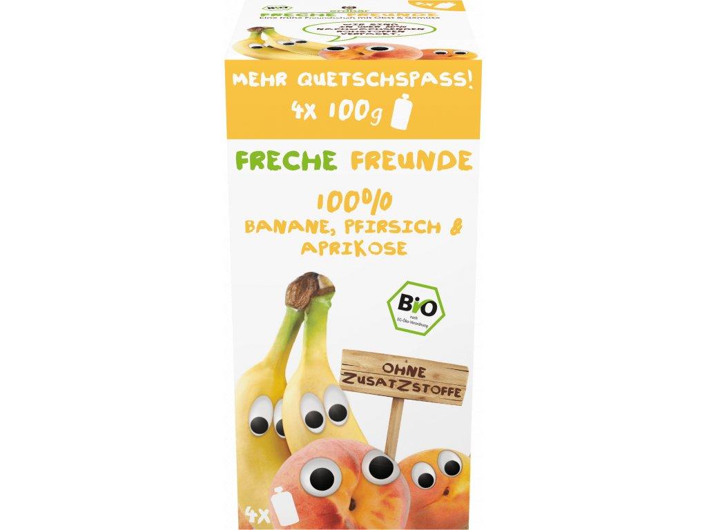 4260249143579 BIO Ovocná kapsička Banán, hruška a meruňka (4 pack 4x100g) nedávat počet kusů, 12m