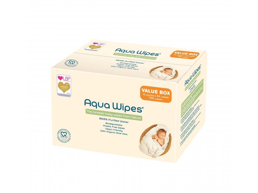 Aqua Wipes 12 x 64 carton