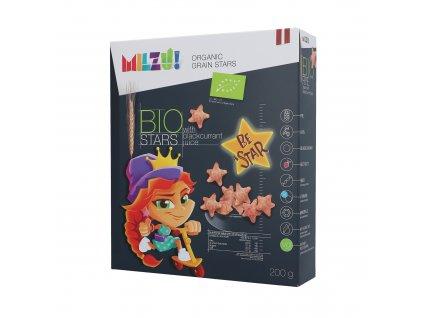 Milzu! - BIO Cereální hvězdičky se šťávou z černého rybízu 200g
