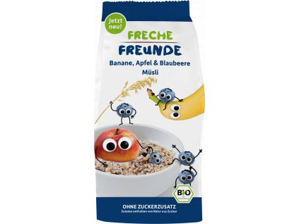 Freche Freunde - BIO Müsli - Banán, jablko, borůvka 200g