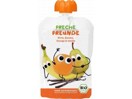 4260249140219 BIO Ovocná kapsička Hruška, banán, pomeranč s vanilkou 100g.6x, 12+png
