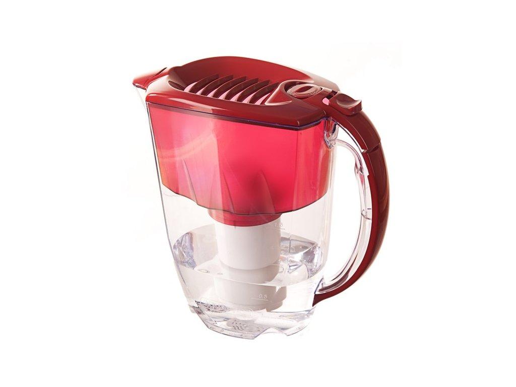 Filtrační konvice Aquaphor Prestiž (cherry) + 2 filtrační patrony