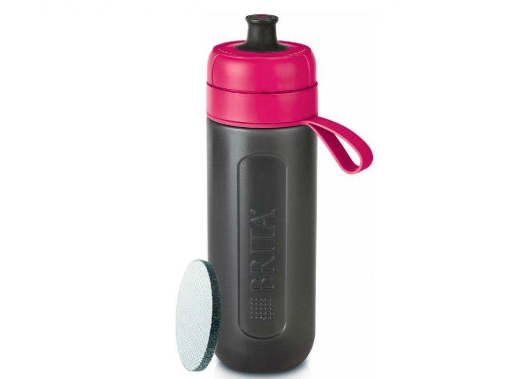 Filtrační láhev Brita Fill & Go Active - růžová
