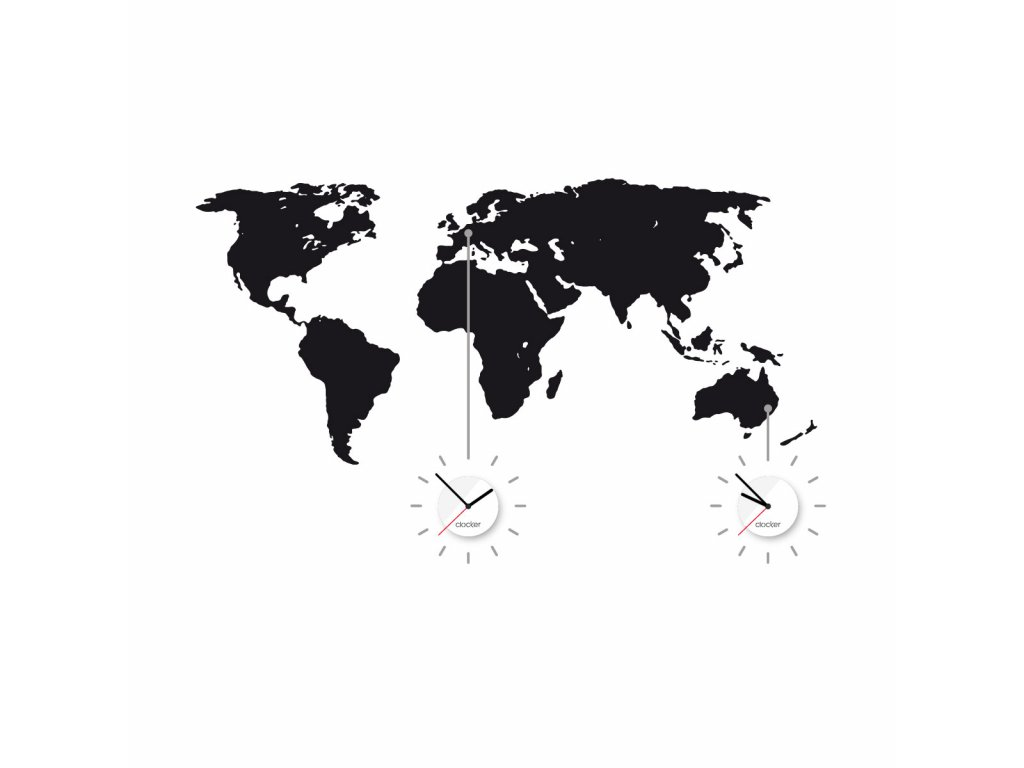 world time universal grey, white