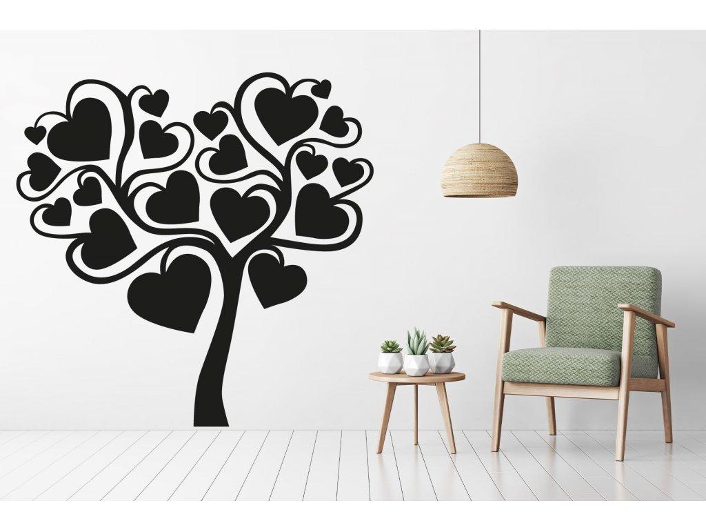 nazed 1380 strom srdce cerna70 80