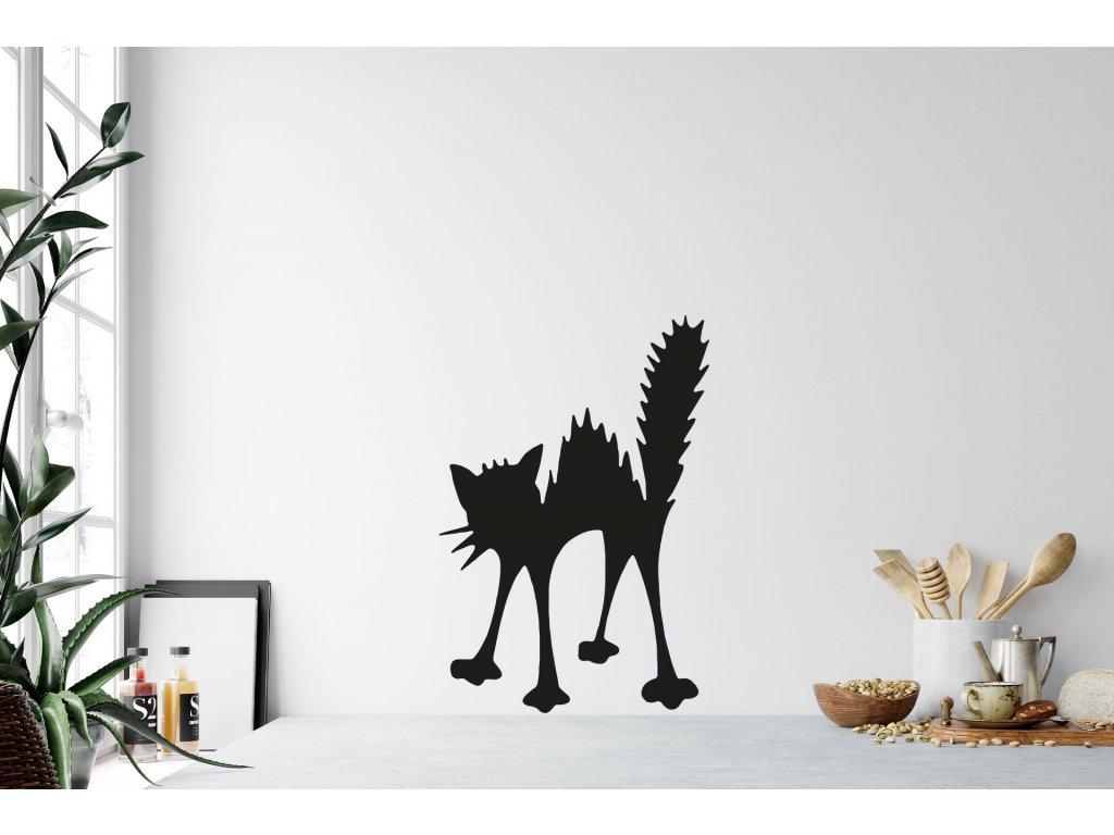 Kancelář černá kočička