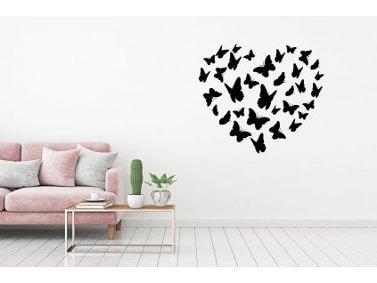 nazed 1053 motyli srdce cerna70 80