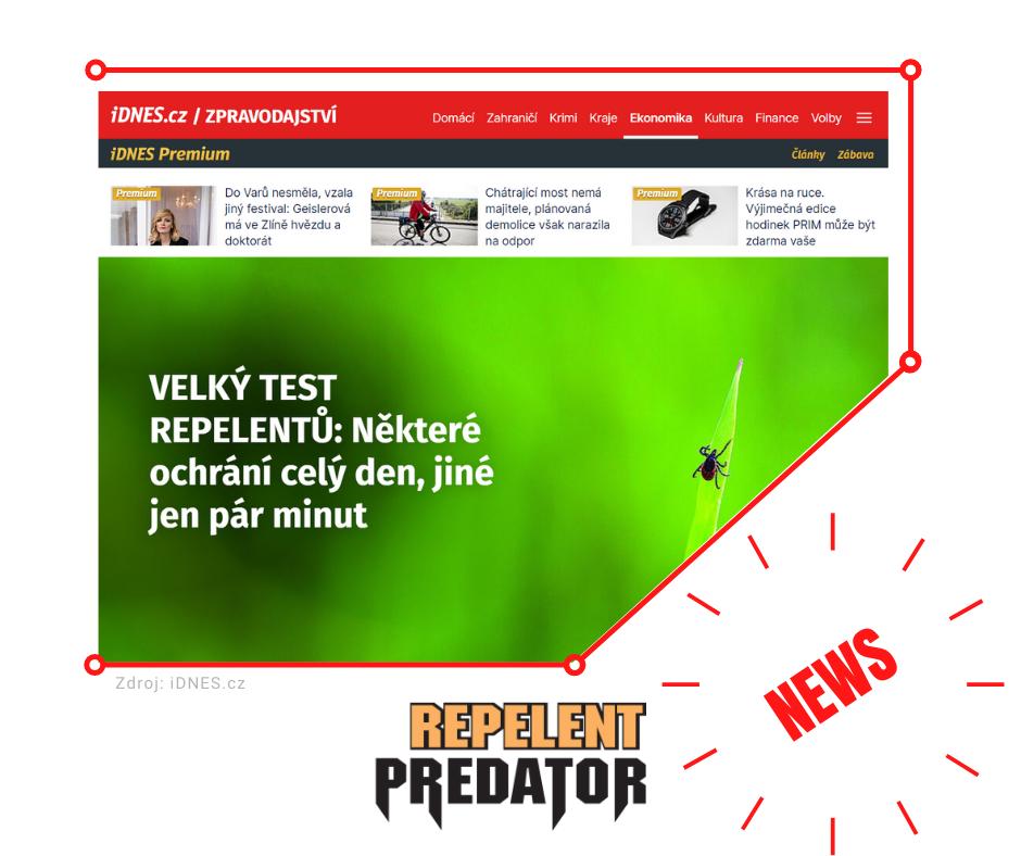 Repelent Predator Aloha se umístil na prvním místě ve velkém testu repelentů iDnes.cz