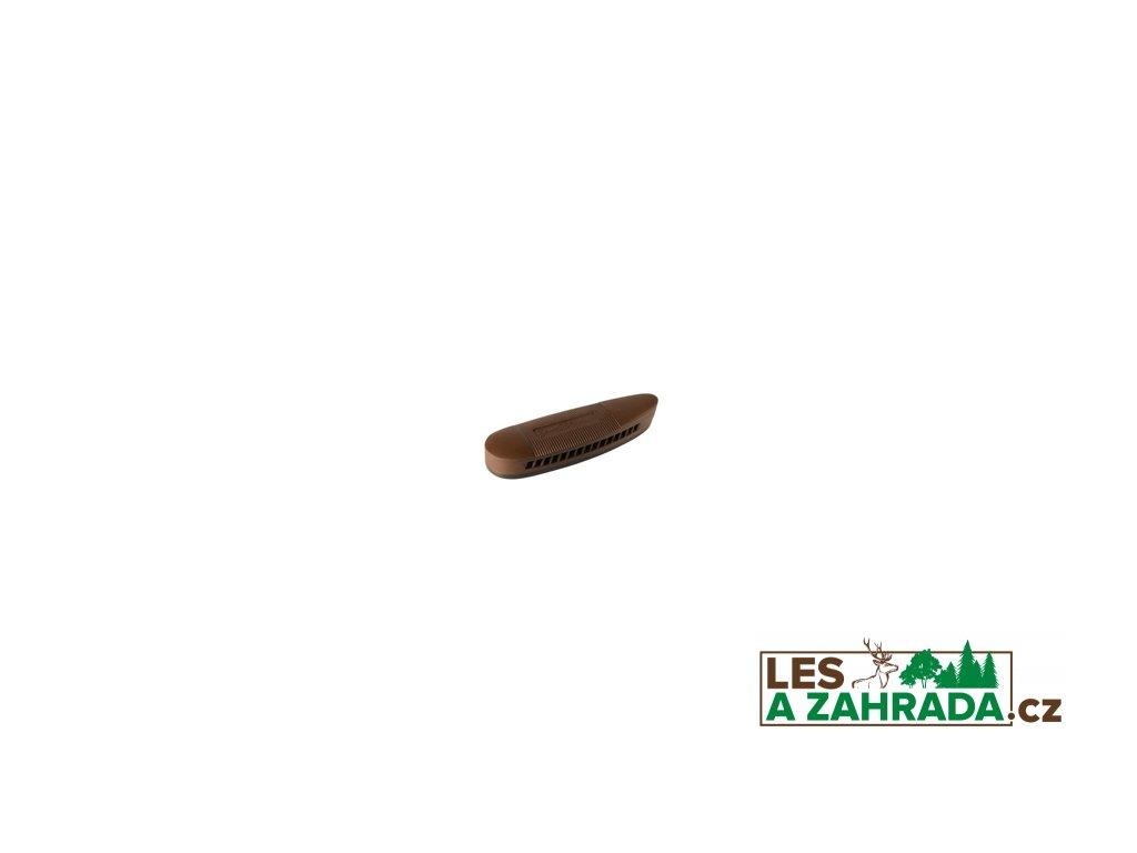 Gumová botka na pažbu 130x43x20 mm černá/hnědá