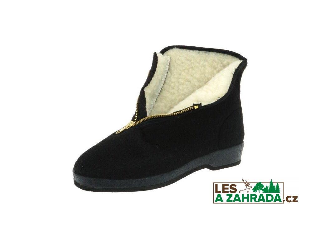 Zimní filcová obuv DŮCHODKY, na kaučukové podešvi