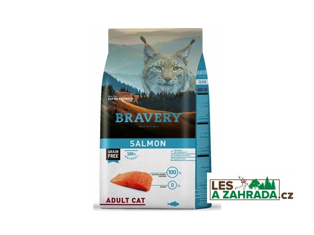 BRAVERY cat ADULT Grain Free salmon 7kg