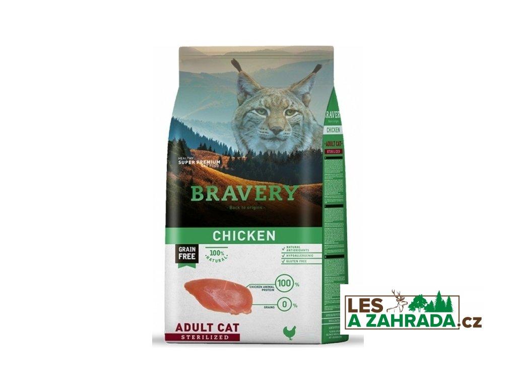BRAVERY cat STERILIZED Grain Free chicken 7kg