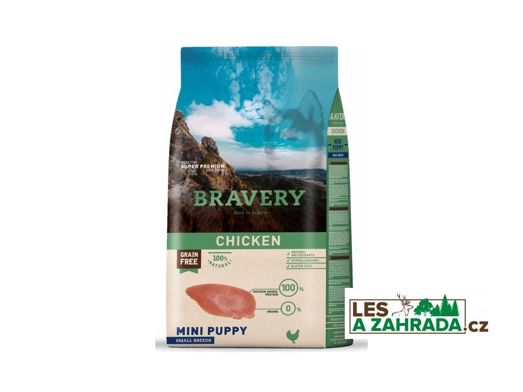 BRAVERY dog PUPPY MINI Grain Free chicken 7kg