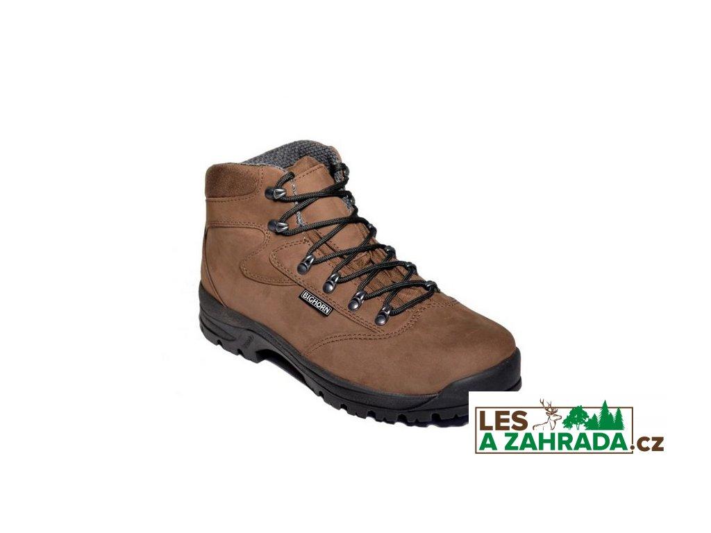 BIGHORN - Pánské trekové boty LOVA 0610 hnědé
