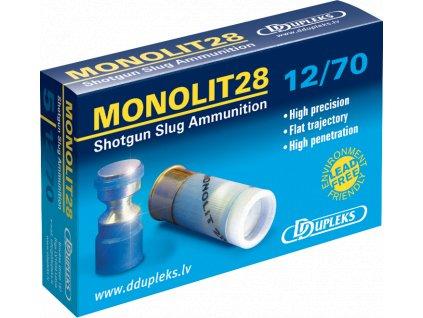 Dupleks 12x70 Monolit 28g Hunting 5ks