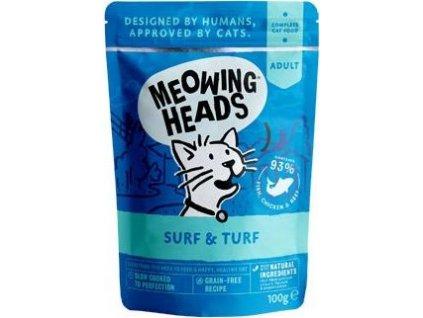 MEOWING HEADS Surf & Turf kapsička 100g