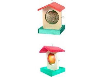Krmítko pro ptáky na jablko/lojové koule